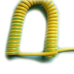 Yellow Green Spiral Cable